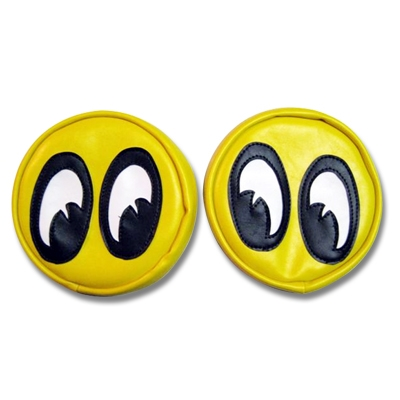 Yellow Headlight Covers With Mooneyes Eyeballs Hot Rod