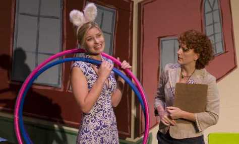 Kylee Evans and Diana Coatsworth in Nursery School Musical 2009