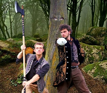 Korimander (Darren Turner) and Prince Ash (Chris Murray)