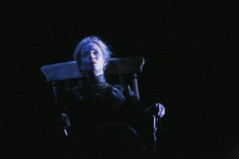 Lisa Dwan in Beckett Trilogy_ROCKABY. Cred_ John Haynes
