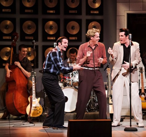 Tyler Check, Gerrad Everard and Matt Cage in Million Dollar Quartet