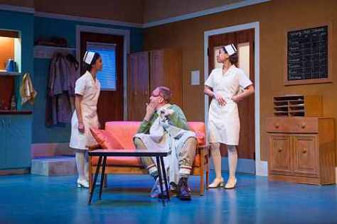 Photo of Belinda Corpuz, Mark Crawford, Isabel Kanaan in Prairie Nurse at Factory Theatre, April 2018