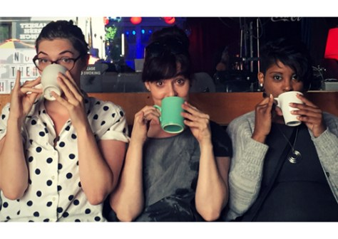 Photo of Mani Eustis, Rosanna Saracino, Coco LaRain from Plays in Cafes by Laura Katherine Hayes