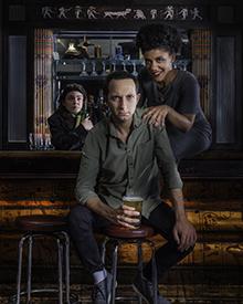 Photo of Kat Letwin as Thoth, Michael Musi as Jeff, Amanda Cordner as Anubis by John Gundy, taken at the Paddock Tavern