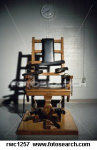 The electric chair (for death penalty) at the Greensville Correctional Center in Jarratt,
