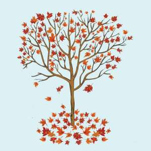 tree dropping leaves