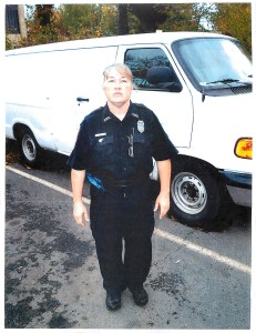 Fairfax County police parking enforcement Officer Jacquelyn D. Hogue, who ticketed a vehicle at the Chantilly Service Center and later charged the shop's owner with felony assault on a police officer. Photo entered as evidence in Redwine's trial in September 2015. (Fairfax County Police Department)