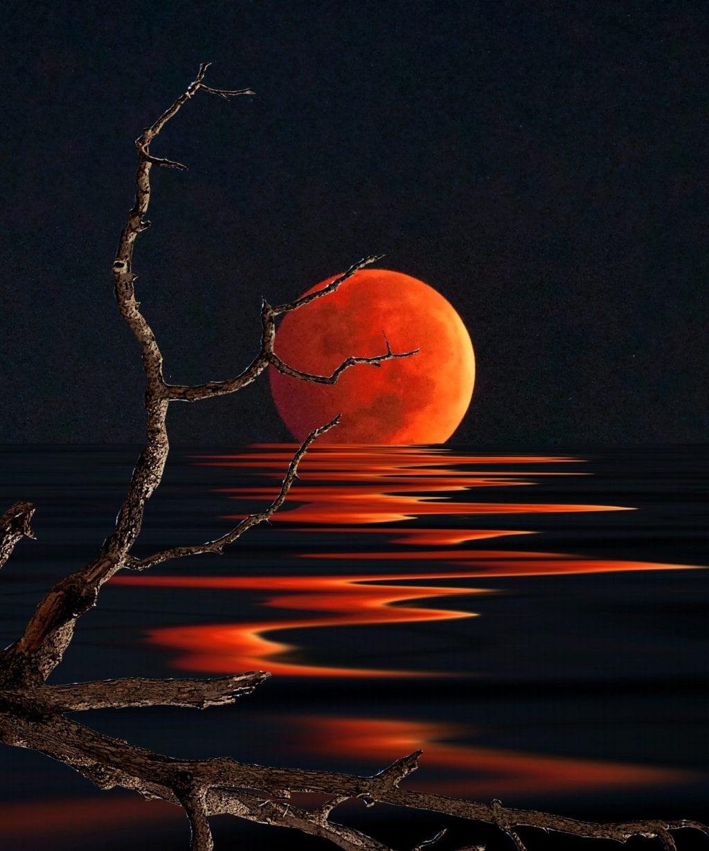 Blood Moon Reflection — MoonipulationsMoonipulations
