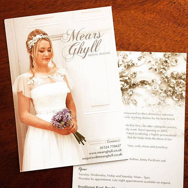 Mears Ghyll Bridal Rooms - Postcards