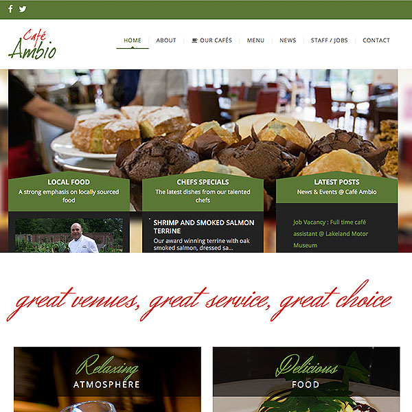 Cafe Ambio Website