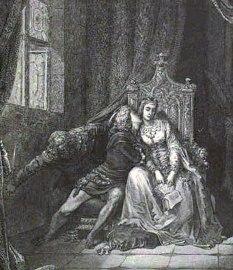 El beso de Rodin. Francesca y Paolo son asesinados por el marido de Francesca.