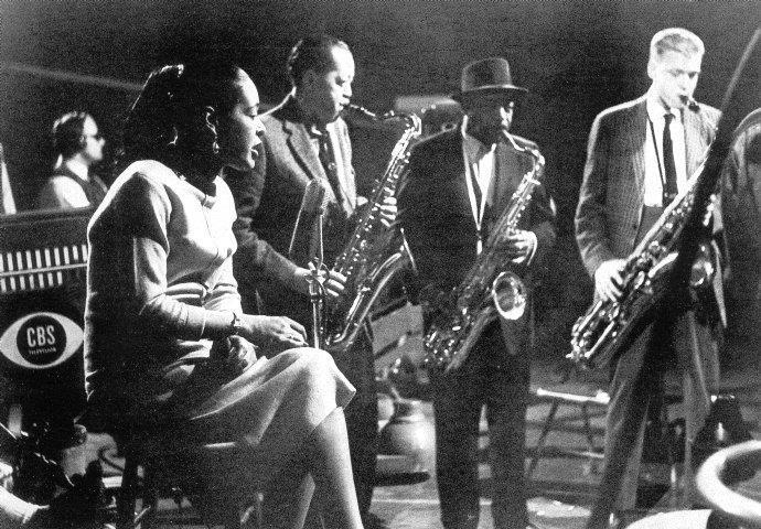 Lady Day. Billie Holiday, Lester Young, Ben Webster and Gerry Mulligan.