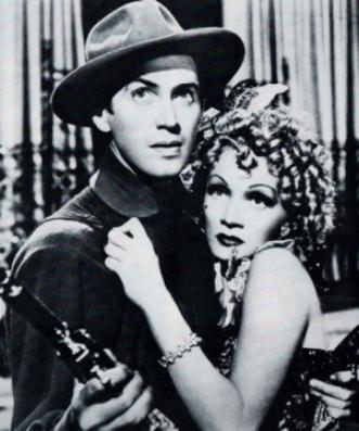 Mae y Marlene. Stewart y Dietrich.