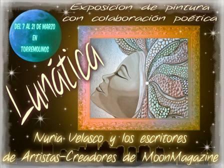 """""""Lunática"""", próxima exposición de Nuria Velasco Invitación exposición"""