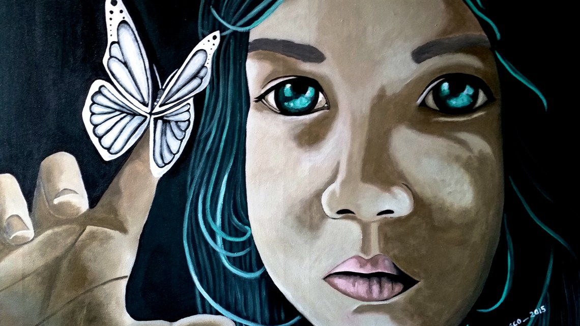 """Papilio. """"La mariposa"""" de Nuria Velasco Vegas con poema de Pilar García Reche."""
