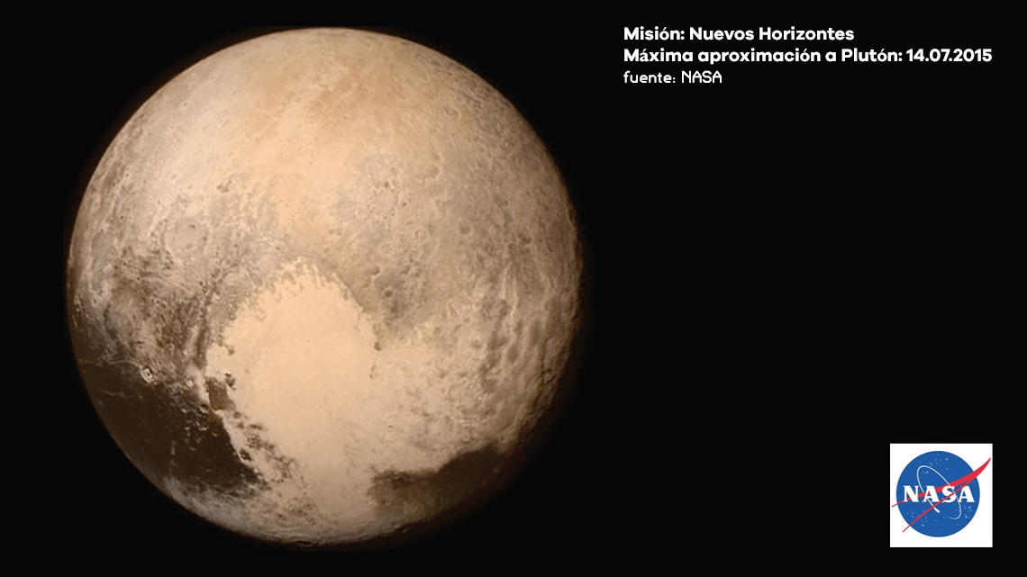 Plutón fotografiado por la Nuevos Horizontes. © NASA