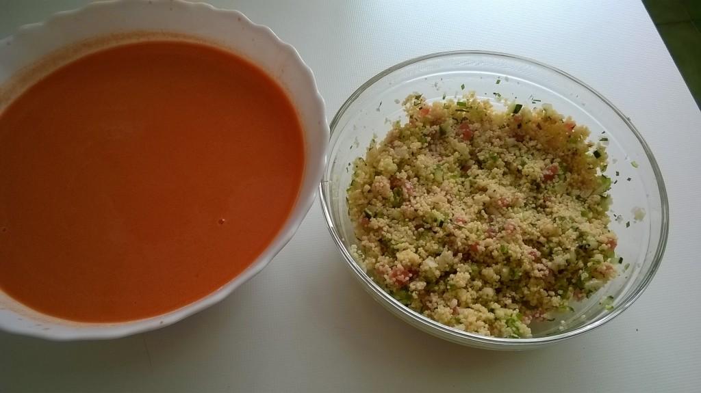 Gazpacho y Tabbouleh