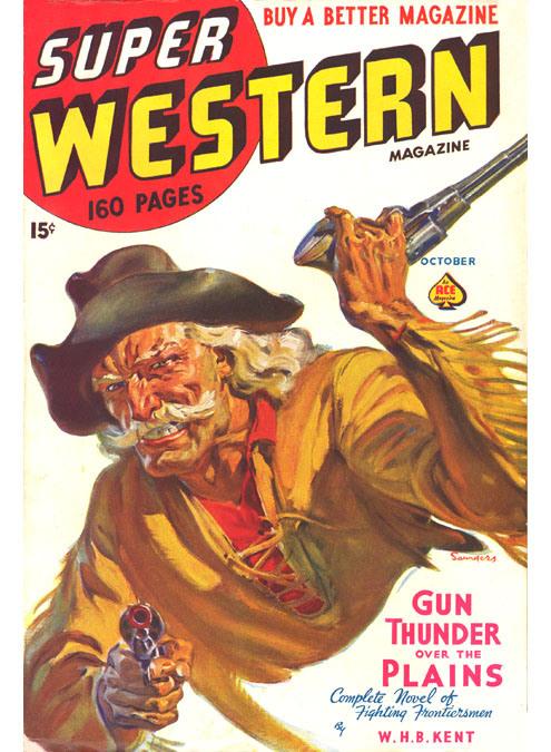 Norman Saunders. Western. pulp