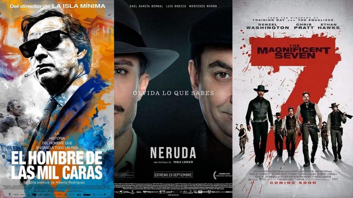 Neruda y el Hombre de las mil caras frente a un blockbuster americano. Cine de estreno con José Manuel Cruz.