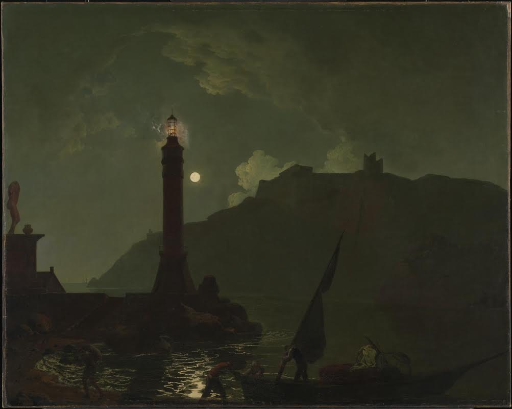 A Moonlight with a Lighthouse, Coast of Tuscany ?exhibited 1789 Joseph Wright of Derby 1734-1797 Purchased 1949 http://www.tate.org.uk/art/work/N05882