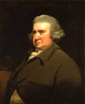CH142275 Portrait of Dr Erasmus Darwin, (1731-1802) scientist, inventor and poet, grandfather of Charles Darwin, 1792-93 (see also 5516) by Wright of Derby, Joseph (1734-97) oil on canvas 73.6x61 Private Collection © Christie's Images English, out of copyright