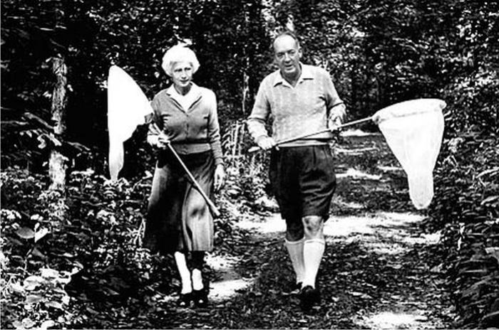 Vladimir y Vera Nabokov a la caza de la mariposa