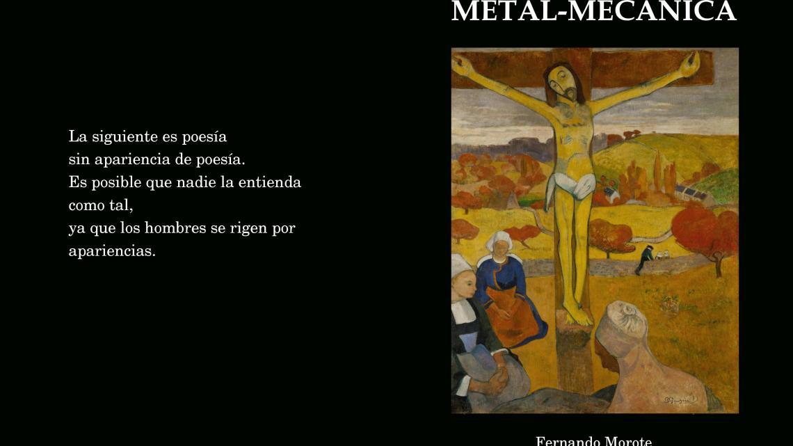 Poesía metal-mecánica