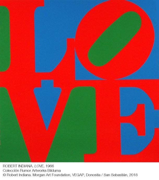 Exposición POP POP POP American Pop Art en sala Kubo-kutxa de Donostia Robert Indiana. LOVE (1966)