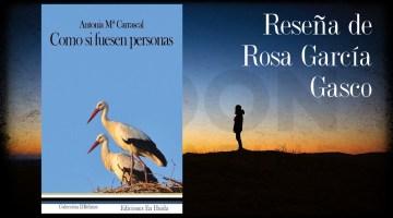 Como si fuesen personas, Antonia Mª Carrascal: retratos de tipos humanos