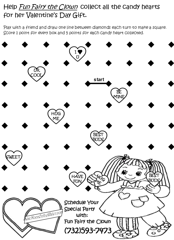 Preschool Valentine Coloring Worksheet