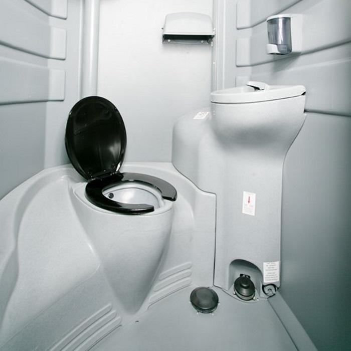 flushable portable restroom moon