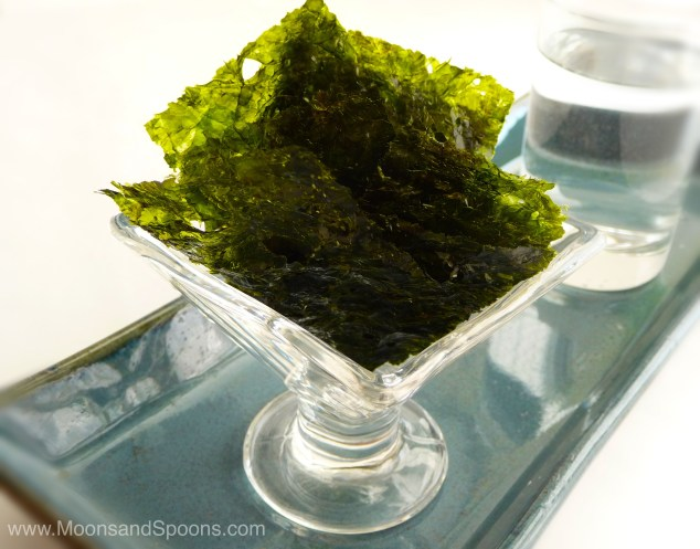 Because who doesn't eat their seaweed on a glass pedestal? ;)