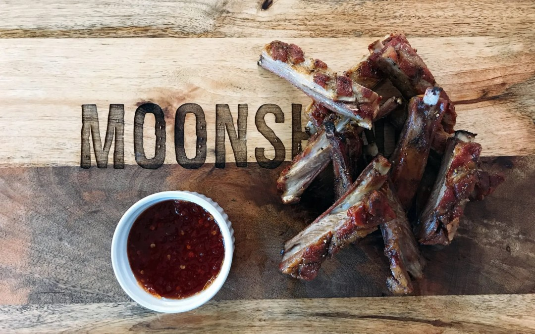 Twice-cooked lamb ribs with homemade chilli jam