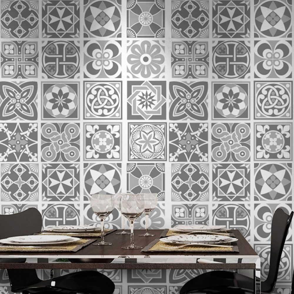 grey scale tile stickers pack of 32
