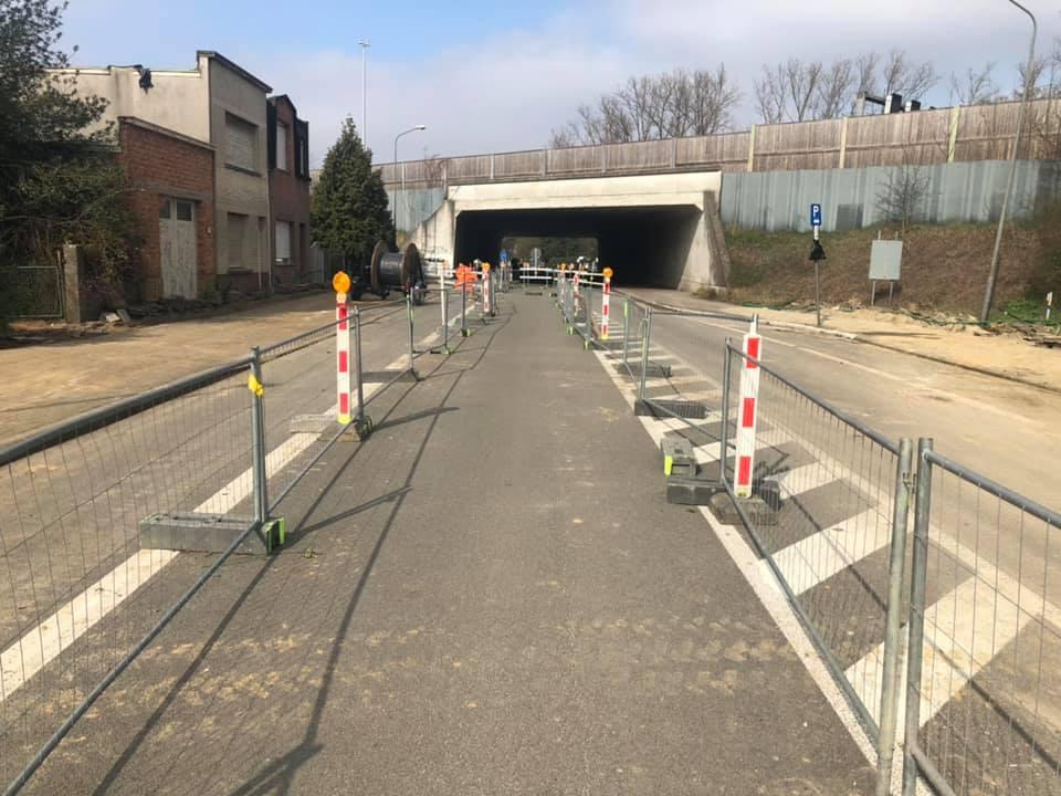 Veiligheid voorop aan de wegenwerken ter hoogte van de Ternesselei, Wommelgem