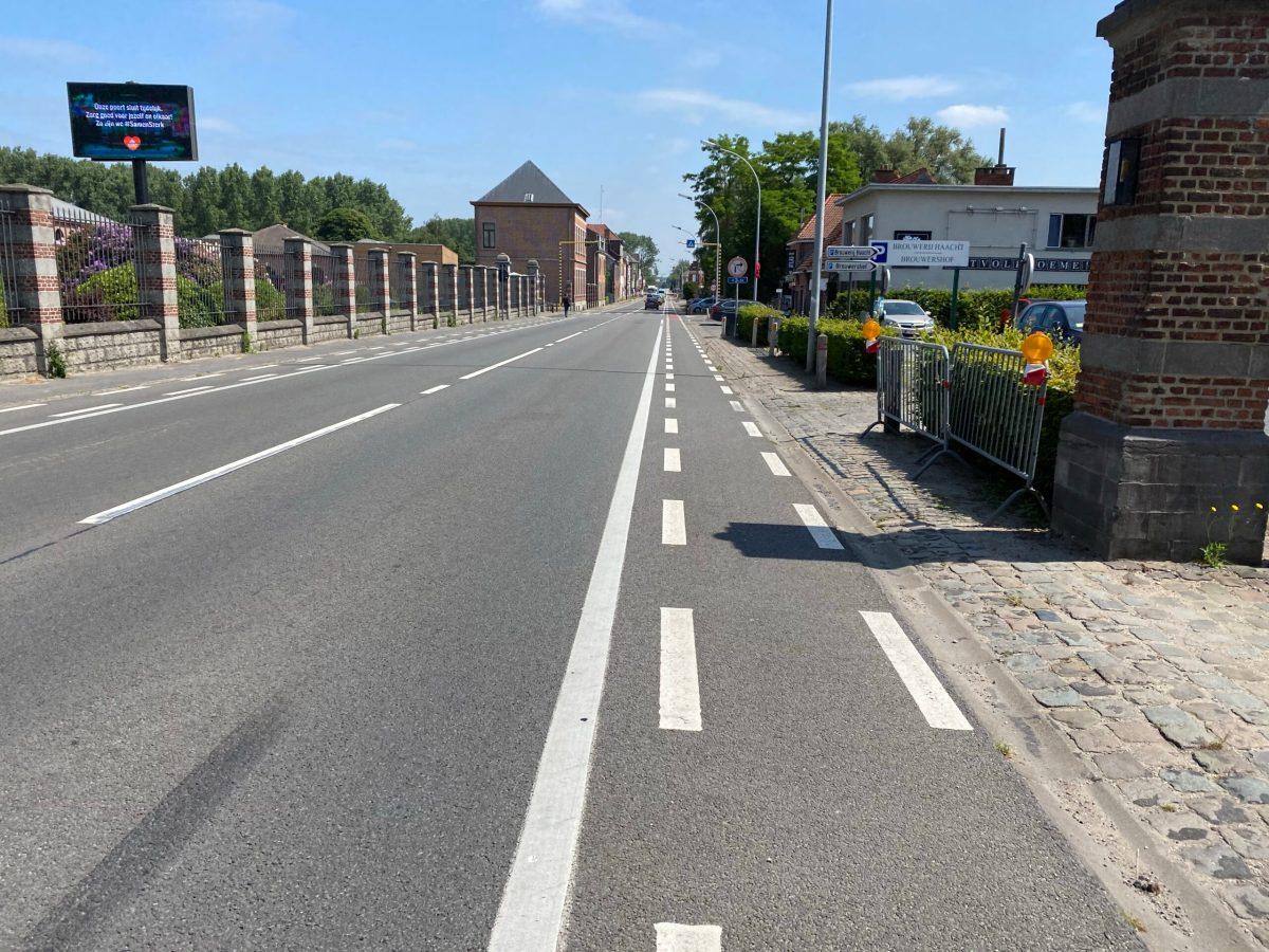 De Provinciesteenweg in Haacht blijft een gevaarlijke baan