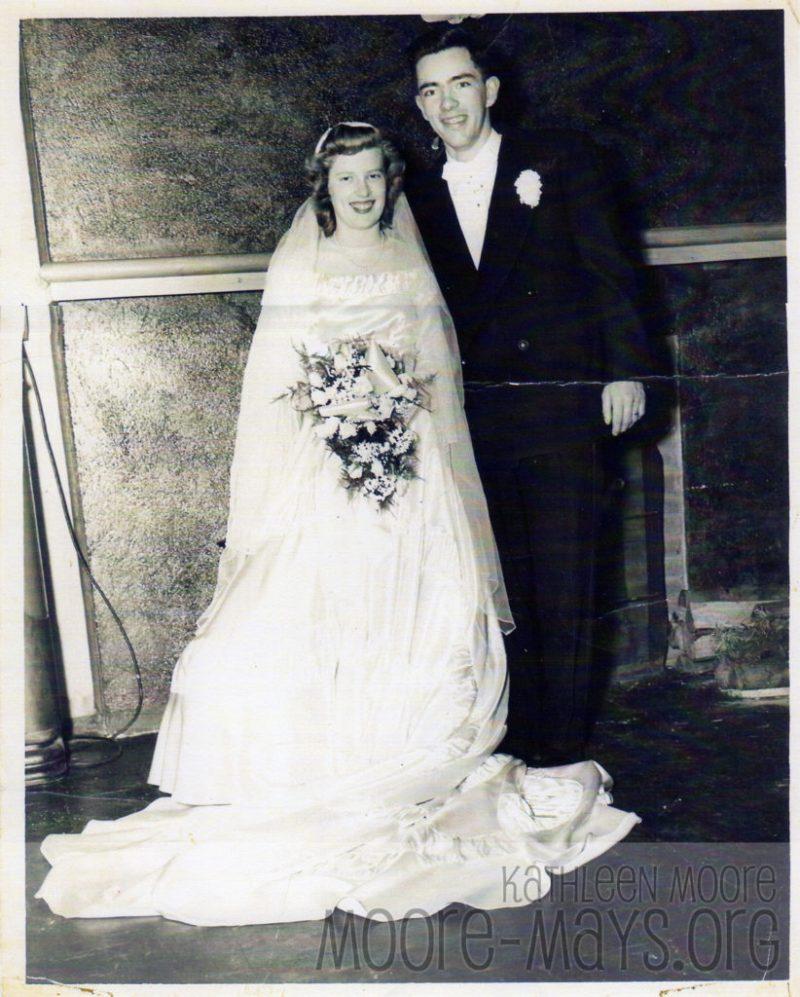 William Moore, Florence Redford wedding photo