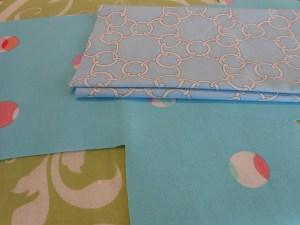 Leftover fabric scraps