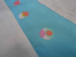 Burp cloth close up