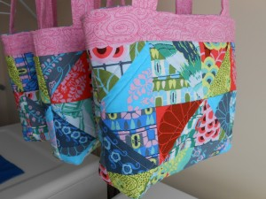 Quilted Tote Bags amy butler cameo