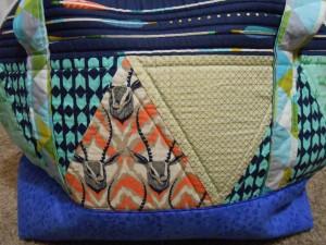 Aeroplane Bag Sew Sweetness Cotton and Steel Closeup
