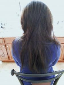 Jennifer Moore before haircut back