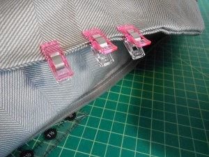 Top stitching fabric lining