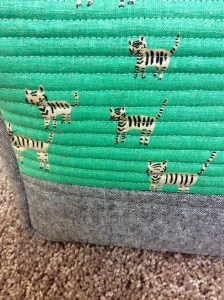 Cotton and Steel Hatbox Tiger Print Flight Bag Close Up Exterior