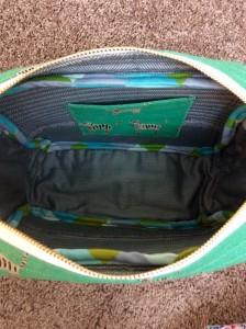 Cotton and Steel Hatbox Tiger Print Flight Bag Interior