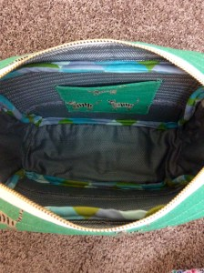 Cotton and Steel Hatbox Tiger Print Flight Bag Interior