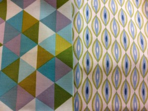 Modern Fabric Green Blue Kate Spain Sunnyside