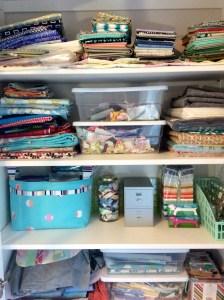 Craft room Ikea Hemnes cabinet top