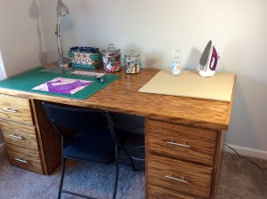 Craft room handmade wood table