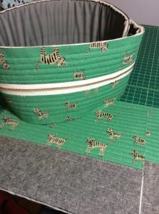 Cotton and Steel Hatbox Tiger Print Flight Bag Construction